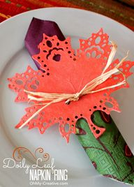 Fall Doily Leaf Napk