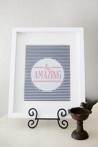 Be Amazing Print - f