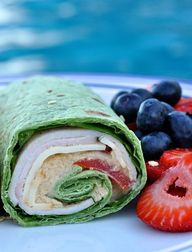 Turkey Hummus Wraps