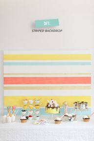DIY Striped Backdrop