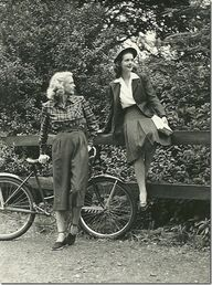 1940s causal outdoor