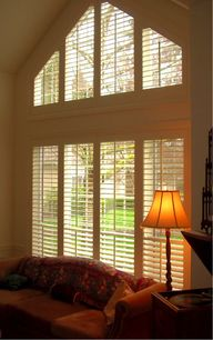 Shutters for angled