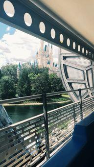 disney's magic kingdom— peoplemover views