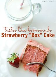 Strawberry Box Cake