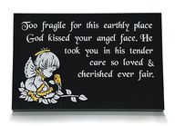 Any plaque can be made to order in any material, using any font.