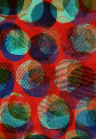 Textured Circles - Sarah Bagshaw (note to self - fingerprints over coloured ground, transparent layers over top)