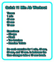 Favorite Ab Workout