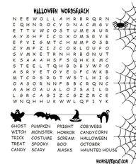 Halloween Word Searc