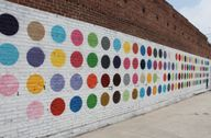 building facade painted black wall mural - Google Search