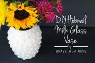 DIY Hobnail Milk Gla