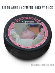custom hockey puck b