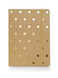 Gold polka dot noteb