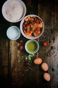 Mini Kimchi Parathas