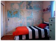 Map wall paper in bo