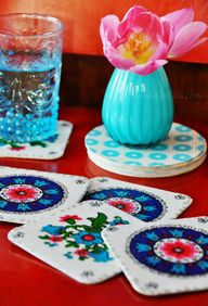 diy coasters using v
