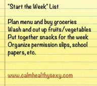 Start the Week List