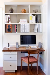 Office nook bookcase