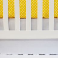 White Scalloped Crib