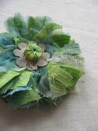 Julia Laing/materialised - Green fabric corsage