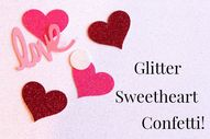 Confetti, heart, love , glittered, wedding, Valentine