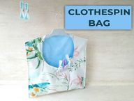 How to Make a Clothespin Bag Pattern and VIDEO Tutorial