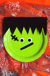 Easy DIY Frankenstein Monster Plates!