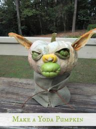 Make a Yoda Pumpkin