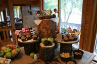 Our cupcake display!