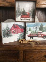 Fresh Vintage by Lisa S: Christmas Gift Bag Wall Art