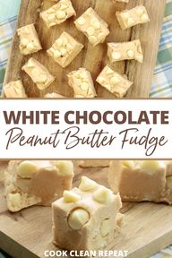 This white chocolate peanut butter fudge is easy and delicious. This no cook fudge is made quickly and simply with ingredients you might have on hand already!