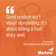 """An inspirational quote from MarketingProfs Ann Handley to cure your """"case of the Mondays"""" #motivationalmonday"""