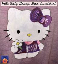 Unique Christmas Gift Idea-Hello Kitty Grunge Dyed Sweatshirt - lovemycottage