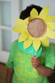 Paper plate sunflowe