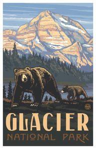 Glacier National Park Poster by Paul Lanquist