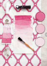 Pink and white colou