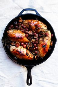 chicken with figs & grapes