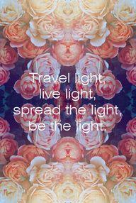 Travel light... spre