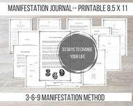 Manifestation Journal Download Printable 3-6-9 Law of | Etsy