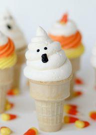 Ghost Cupcake Cones