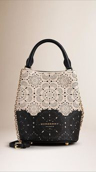 Burberry The Small Bucket Bag In Perforated Leather ($2,495) | The Coolest Dang Bucket Bags You Could Ever Be Caught Swinging | POPSUGAR Fashion