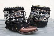 Road Warrior Boots  Custom Order.  SOLD  by InKaBoots on Etsy
