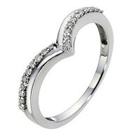 9ct White Gold Wishb