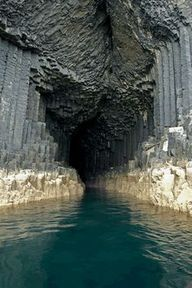 Fingals Cave, on the island of Staffa off the west coast of Scotland