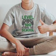 Game Level 100 Days of School, 100 Days of School Shirt Boys, 100 Days of School Game Level Shirt, 100 Days Game Levels Shirt, Boys 100 Days of School Shirt