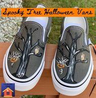 Spooky Tree Halloween Vans - lovemycottage