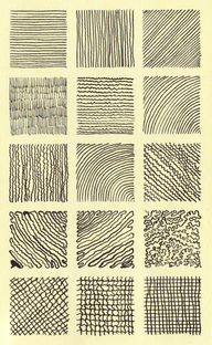 Pen and Nib black and white: Guptill exercises on textures
