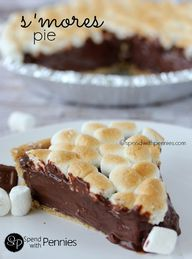 S'mores Pie!  Yummy