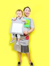 DIY Retro Gameboy Game Mommy & Me Costume!