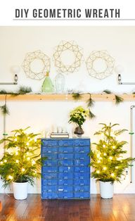 DIY Geometric Wreath