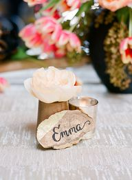 Wood Place Card